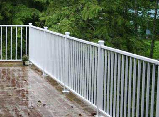 Deck railing systems easyrailings aluminum railings