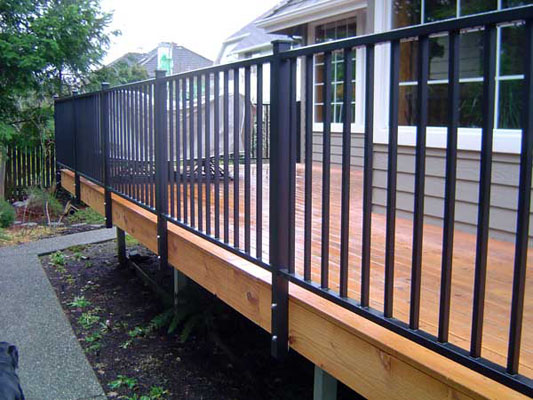GALLERY Aluminum Deck Railings on Types Of House Roof Designs